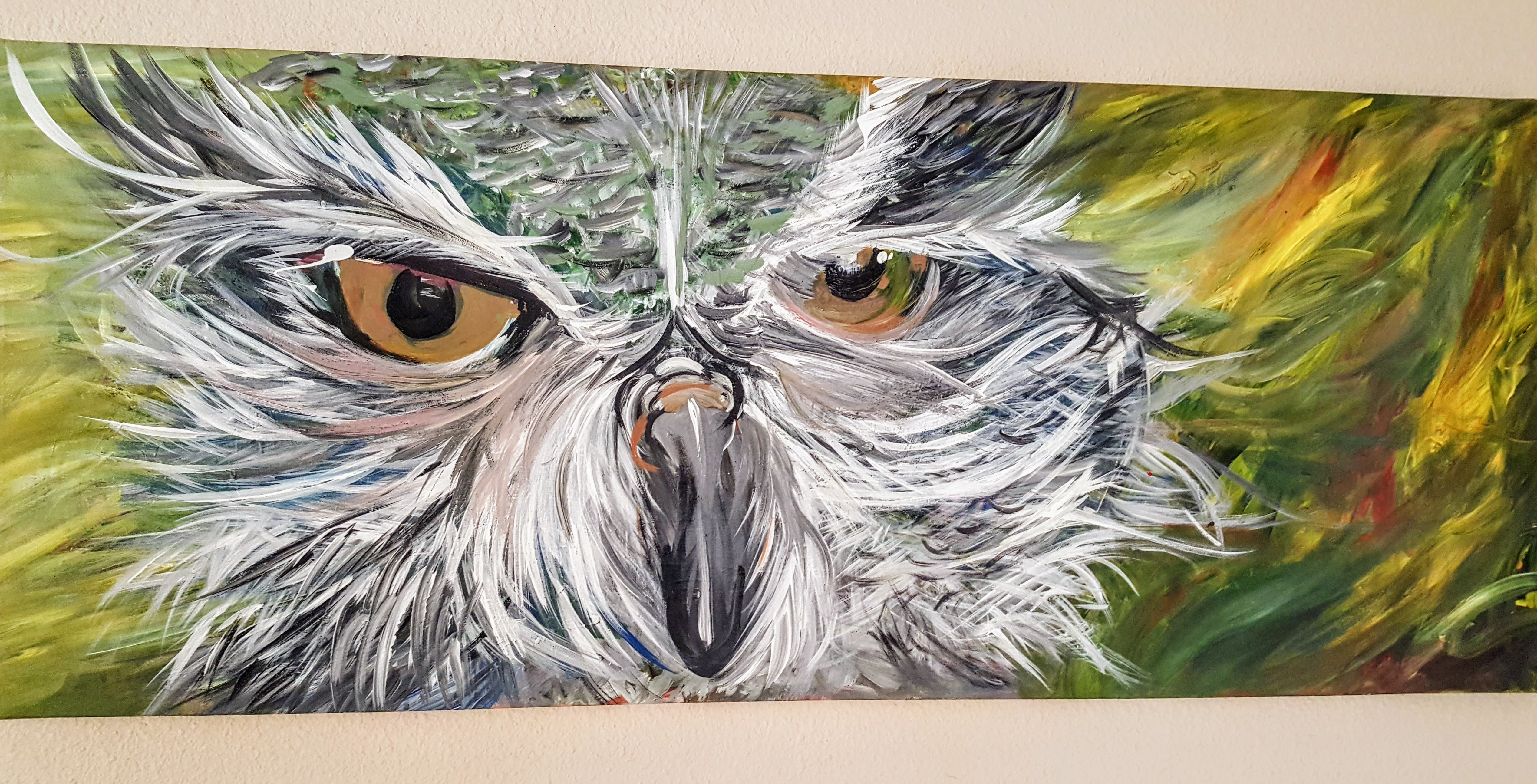 Owl Acrylic on Canvas | terkwoize